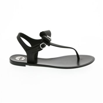 BCBGeneration Delight Bow Front Molded Sandal at Von Maur