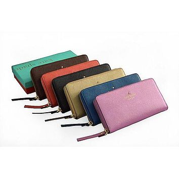DCCKXT7 Kate Spade' Women Cowhide Purse Simple Fashion Multifunction Zip Long Section Wallet Handbag