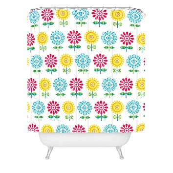 Andi Bird Pt Reyes Flowers Shower Curtain