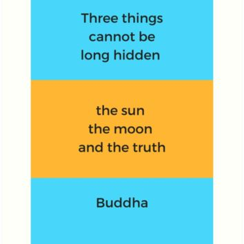 'Buddhist Quote - The Truth' Art Print by IdeasForArtists