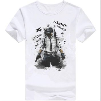 Game Playerunknocner Winner Chicken Dinner T Shirt men cool graphic tshirt hipster T-shirts Tee
