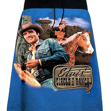 Elvis Presley Cowboy Ranch A-Line Skirt