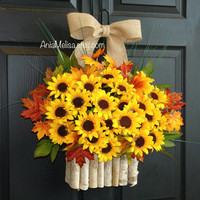 fall wreath summer wreath sunflowers wreath for front door wreaths country decorations welcome rustic wedding front door wreaths