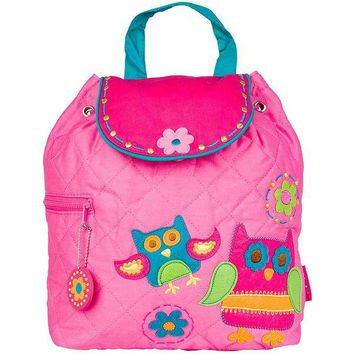Personalized Quilted Stephen Joseph Backpack Owl