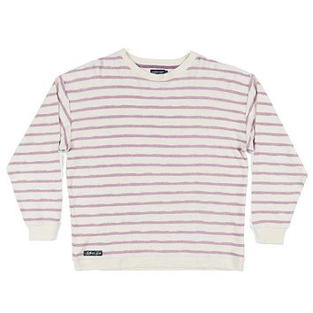 Nautical Stripe Sunday Morning Sweater in Camelia by Southern Marsh