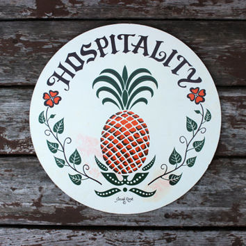 Large Vintage Hex Sign - by Jacob Zook - Pennsylvania Dutch Amish Folk Art - Americana - Hospitality Pineapple