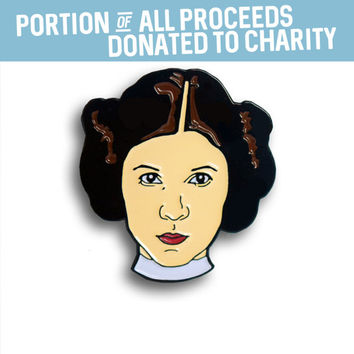 Princess Leia Enamel Pin, Carrie Fisher, Pin Flair, Lapel Pin, Star Wars Pins, Hat Pin, Feminist Pins, Resistance, Rebel, Resist
