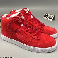 NIKE 2018 men and women tide brand fashion high top sports shoes F-CSXY red