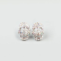 FULL TILT Rhinestone Skull Earings    208765140 | Earrings | Tillys.com