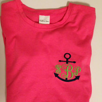 Personalized tee with Anchor- Womens