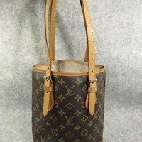 Tagre™ Authentic Louis Vuitton BUCKET PM Vintage in 1996 Handbag Shoulder Bag, no peeling and