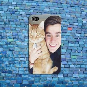 Connor Franta Cute Cat Funny Cell Phone Case Cover iPhone 4 4s 5 5s 5c 6 6s iPod