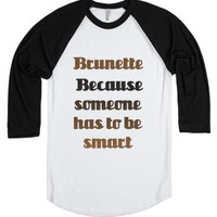 C - Brunette Smart-Unisex White/Black T-Shirt