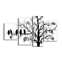 Nature's Finest in Black & White Landscape Canvas Wall Art Oil Painting
