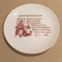 Holly Hobbie/Lasting Memories Happy Birthday Mom Plate/Trinket Dish