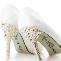 Customised Mrs - Wedding shoe decal