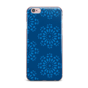 "Gukuuki ""Blue Taylor"" Navy Damask iPhone Case"