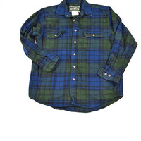 Vintage Thick Green Plaid Flannel for Men / Women by Feild & Stream Size L