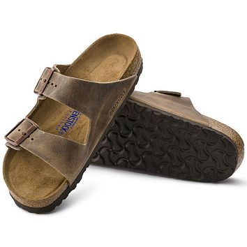 Best Online Sale Birkenstock Arizona Soft Footbed Oiled Leather Tobacco Brown 0552811/