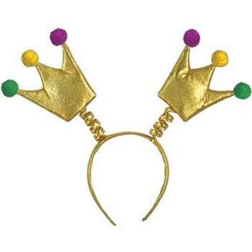 MARDI GRAS CROWN BOPPERS WITH SNAP-ON HEADBAND
