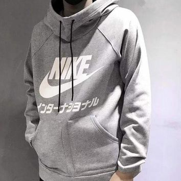 MDIGOP7 Nike Fashion Long Sleeves Hooded Top Pullover Sweatshirt Sweater