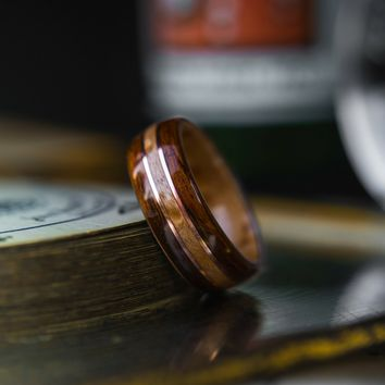 Mens Double Copper Bentwood Ring