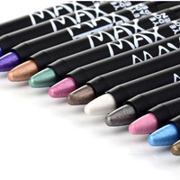 1pc Professional Lady Makeup M.n Eye Shadow Pencil 12 Colors Waterproof  Pencil Make Up Eye Liner Crayon Cosmetics Pen