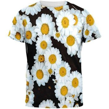 PEAPGQ9 Daisies All Over Mens T Shirt