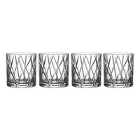 Orrefors City Set of 4 Crystal Double Old Fashioned Glasses | Nordstrom