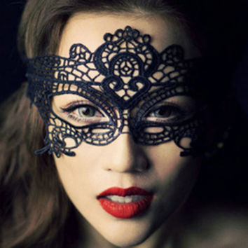 1 PCs sexy And Beautiful Black Lace masquerade mask cutout mask