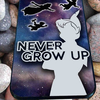 Peter Pan Never Grow Up for iPhone 4/4s/5/5S/5C/6, Samsung S3/S4/S5 Unique Case *76*