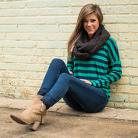 In The Fast Lane Top, Navy/Jade