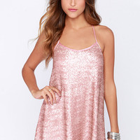 My Lucky Star Blush Pink Sequin Dress