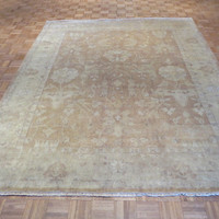 8 x 10 Hand Knotted Rust Oushak Oriental Rug