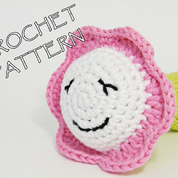Amigurumi crochet pattern little flower soft toy - pdf tutorial