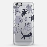 levitating kitties (silver) iPhone 6 Plus case by Marianna Tankelevich | Casetify
