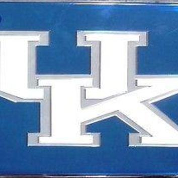 Kentucky Wildcats BLUE28312 Deluxe Laser Acrylic License Plate Tag University of