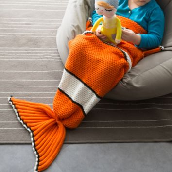 New child Nemo fish tail blanket knit fish tail blanket new line blanket