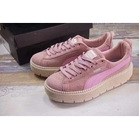 puma suede platform iii pink women shoes