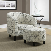 Accent Chair - Set Of Two Set - Vintage French Fabric