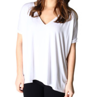 PIKO - short sleeve v-neck white