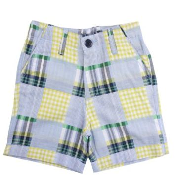 Patchwork Madras Plaid Shorts