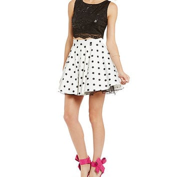 dfb41634b3a Jodi Kristopher Polka Dot Two-Piece Party from Dillard s
