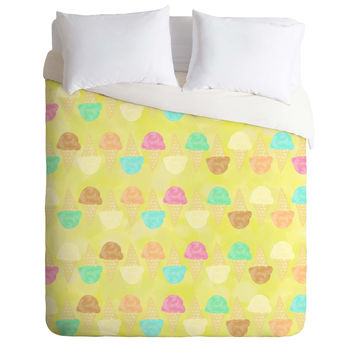 Lisa Argyropoulos Little Scoops Yellow Duvet Cover