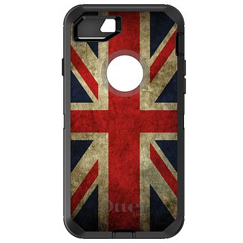 DistinctInk™ OtterBox Defender Series Case for Apple iPhone / Samsung Galaxy / Google Pixel - Red White Blue British Flag Old