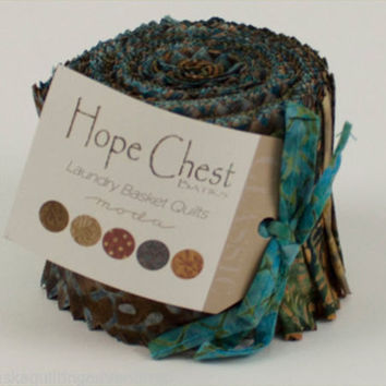 Hope Chest Batiks Junior Jelly Roll in Blues