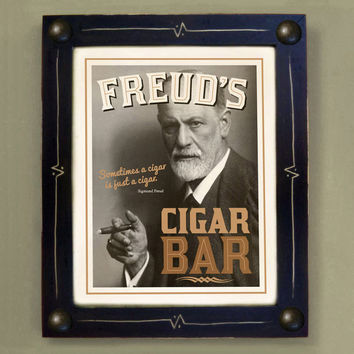 $44.00 Cigar Bar Sigmund Freud Art Print by DexMex on Etsy