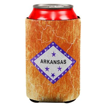 Arkansas Vintage Distressed State Flag All Over Can Cooler
