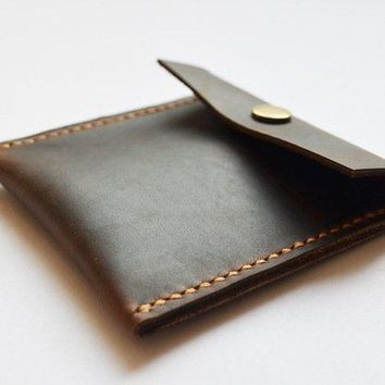 BLUESEBE HANDMADE GENUINE LEATHER COIN PURSE B10