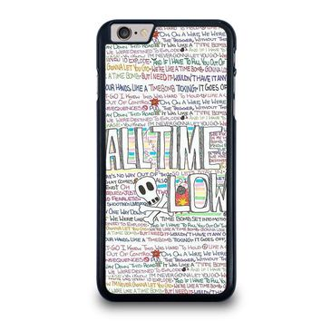 all time low writting iphone 6 6s plus case cover  number 1